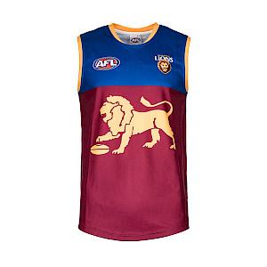 Brisbane Lions Sleeveless Replica Guernsey - Size 8