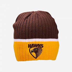 Hawthorn Hawks Boundary Rib Beanie