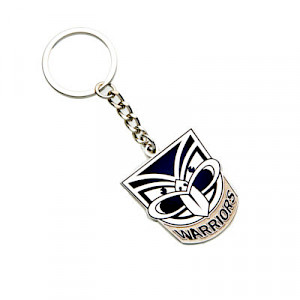 New Zealand Warriors Metal Logo Key Ring