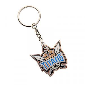 Gold Coast Titans Metal Logo Key Ring