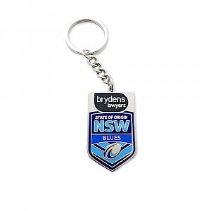 NSW Blues Metal Logo Key Ring