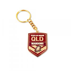 QLD Maroons Metal Logo Key Ring