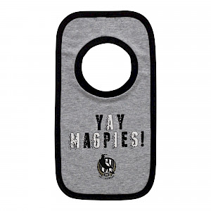 Collingwood Magpies 2 Pack Baby Bibs