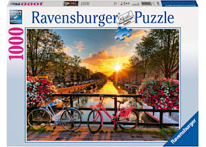 Ravensburger - Bicycles in Amsterdam Puzzle 1000 pieces RB19606-7