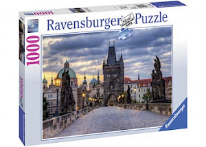 Ravensburger - Across Charles Bridge at Dawn Puzzle 1000p RB19738-5
