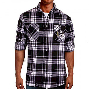 Collingwood Magpies Flannel Shirt - Size S