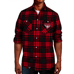 Essendon Bombers Flannel Shirt - Size 5XL