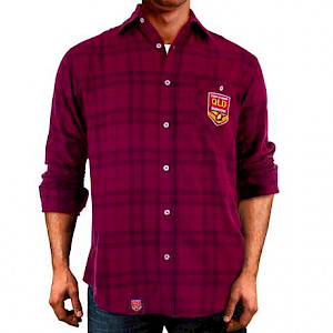 QLD Maroons Flannel Shirt - Size M