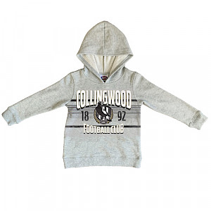 Collingwood Magpies Youth Printed Hood - Size 12