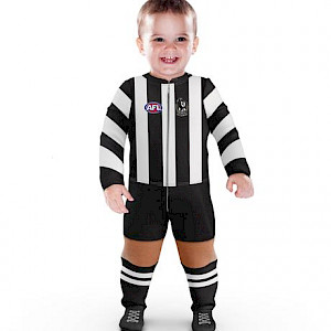 Collingwood Magpies Footysuit - Size 1