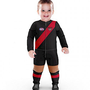 Essendon Bombers Footysuit - Size 0