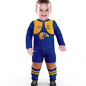 West Coast Eagles Footysuit - Size 000