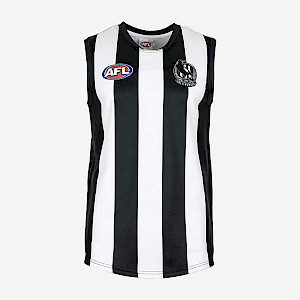 Collingwood Magpies Sleeveless Replica Guernsey - Size 6