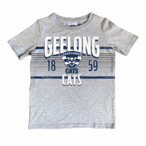 Geelong Cats Printed Tee - Size 4