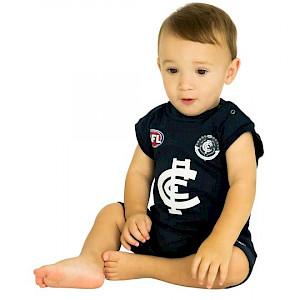 Carlton Blues Short Footysuit - Size 0