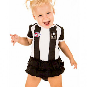 Collingwood Magpies Dress Footysuit - Size 1