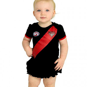 Essendon Bombers Girls Footysuit - Size 000
