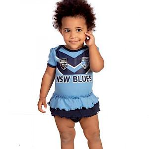 NSW Blues Girls Footysuit - Size 00