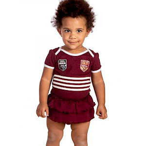 QLD Maroons Girls Footysuit - Size 000