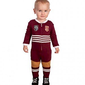 QLD Maroons Long Footysuit - Size 0