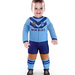 NSW Blues Long Footysuit - Size 1