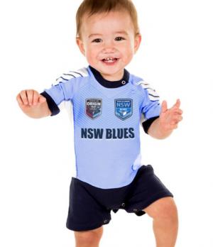 NSW Blues Short Footysuit - Size 000