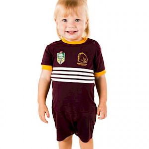 Brisbane Broncos Short Footysuit - Size 00